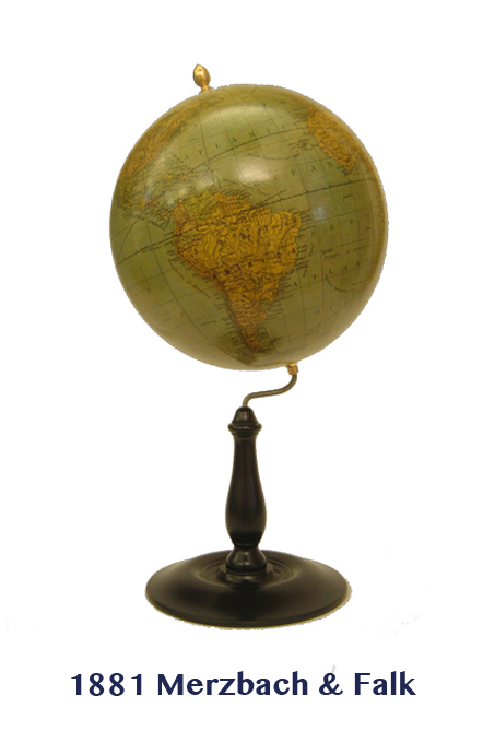 merzbach & falk's 1881  - greaves and thomas make a diverse range of terrestrial globes, globes of the world, world globe, world globes, celestial globes, planetry globes, lunar globes, customised globes, customised world globes, customised globes of the world, paper globes, replica globes,