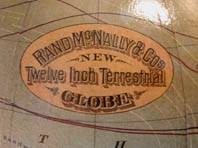 Rand McNally's 1891 Globe With Isothermic