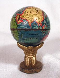 Atlas pencil sharpner  - greaves and thomas make a diverse range of terrestrial globes, globes of the world, world globe, world globes, celestial globes, planetry globes, lunar globes, customised globes, customised world globes, customised globes of the world, paper globes, replica globes,